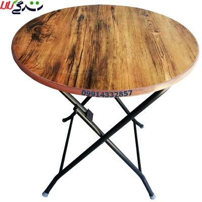 میز تاشو دایره ای شکل