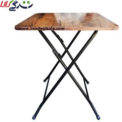میز تاشو سفری مربع شکل نهار خوری